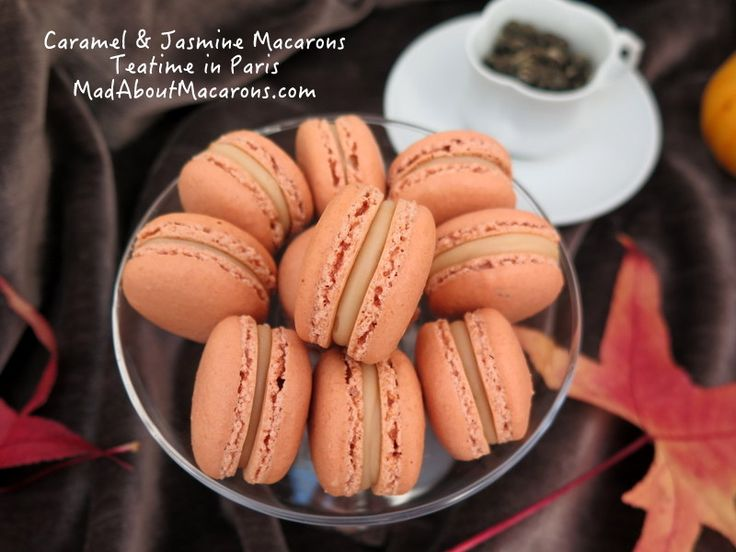 Caramel and Jasmine Macarons | Mad about Macarons! Le Teatime Blog in Paris