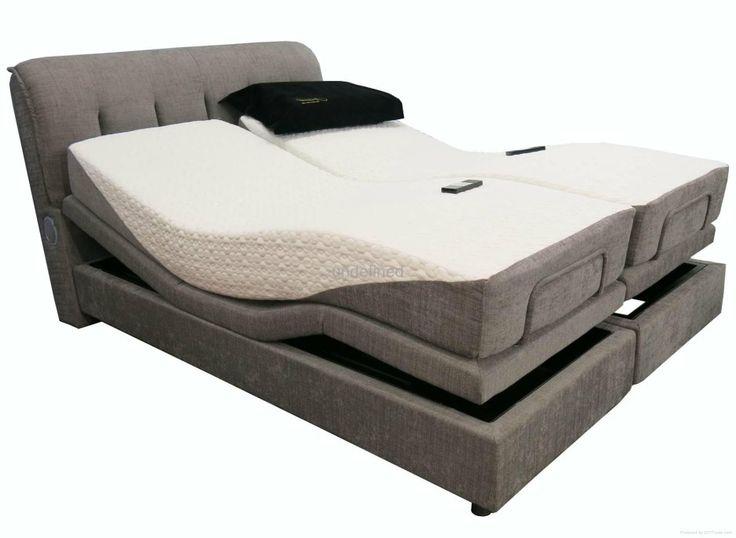 bedroom double mattress adjustable platform bed with gray upholstered headboard surprising electric adjustable bed - Adjustable Beds Frames