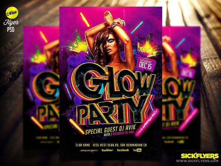 Glow Flyer Template PSD by Industrykidz.deviantart.com on @deviantART