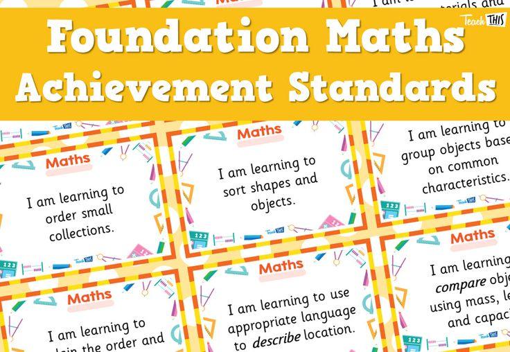 Maths Achievement Standards - Foundation