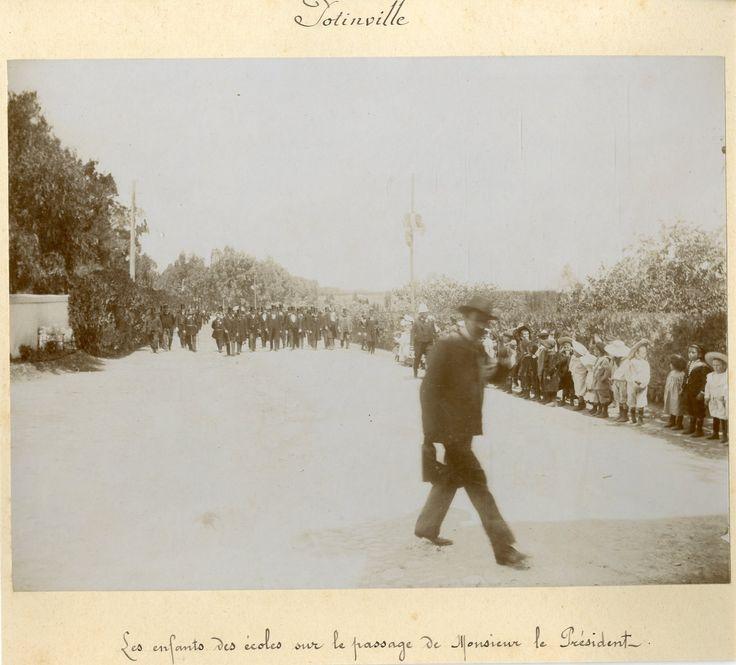 Tunisie, Potinville. Visite du Président de la République Française au Tunis. Les enfants des écoles     #Les_années_1900_à_1940_ #Actualités