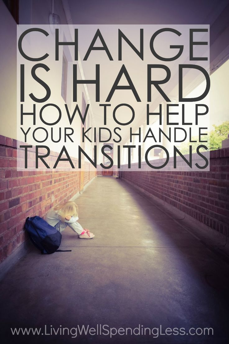 Change can be hard for all of us, but especially for kids.  Whether it is dealing with a new school, a new family member, or a change in routine, transitions can be a challenging and stressful time.  If someone you know is having trouble adjusting, don't miss these helpful tips for helping kids handle transitions and change! via @lwsl