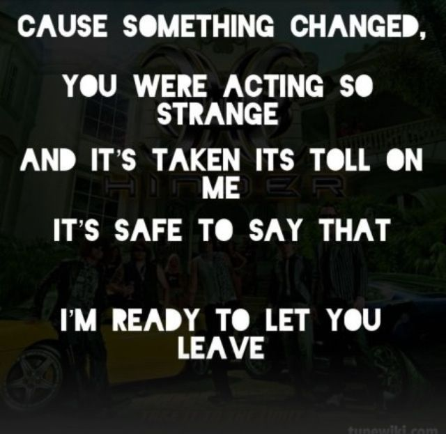 Hinder Lyrics