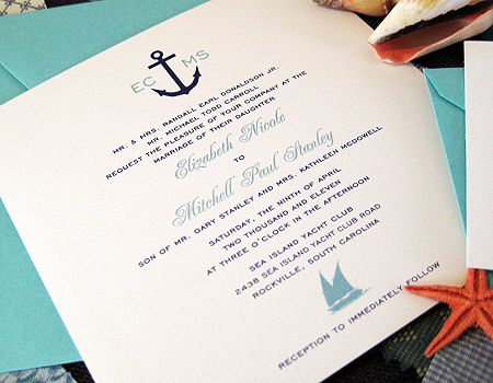 Cruise Wedding Invitation Sara S Nautical By Nature Pinterest Weddings And
