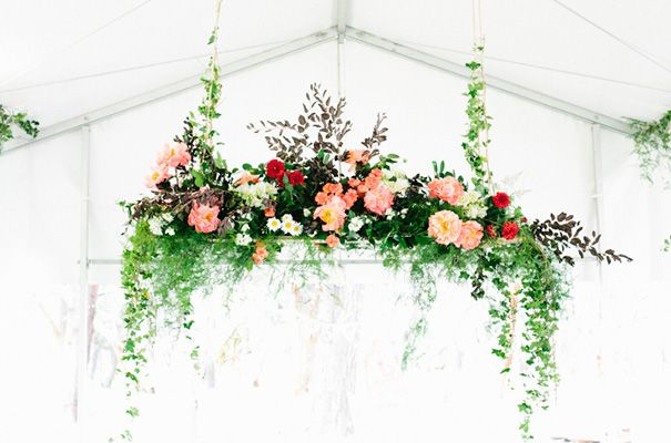 drop down florals | gorgeous for over your reception                                                                                                                                                      More