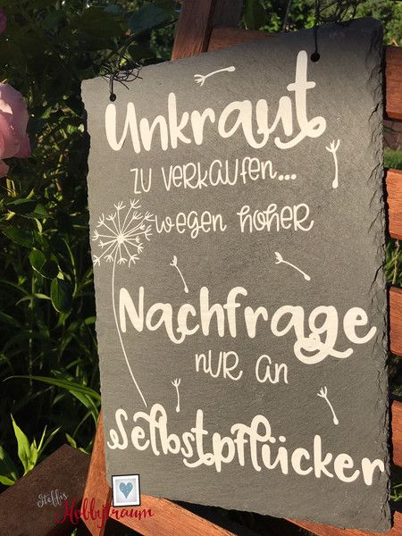 Gartendekoration – Schieferplatte, Türschild, Gar…