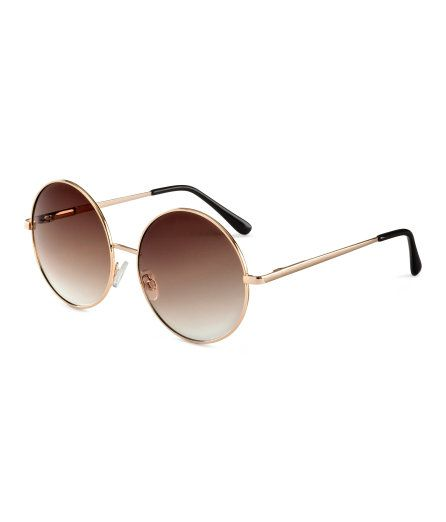 Check this out! Sunglasses with large, round, tinted lenses and metal frames. UV-protective. - Visit hm.com to see more.