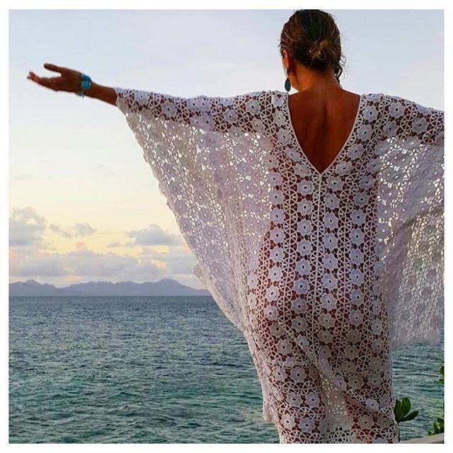 Embracing the ocean via @youforeva in Lisa Brown Kaftan and Noosa Jewellery. #lisabrowndesigns #lisabrown #ocean #fiji #travel #travelgram #fashion #beachfashion #lace #kaftan #ocean #oasis #sea #traveldiaries #summerfashion #summerstyle #holiday #holidayfashion