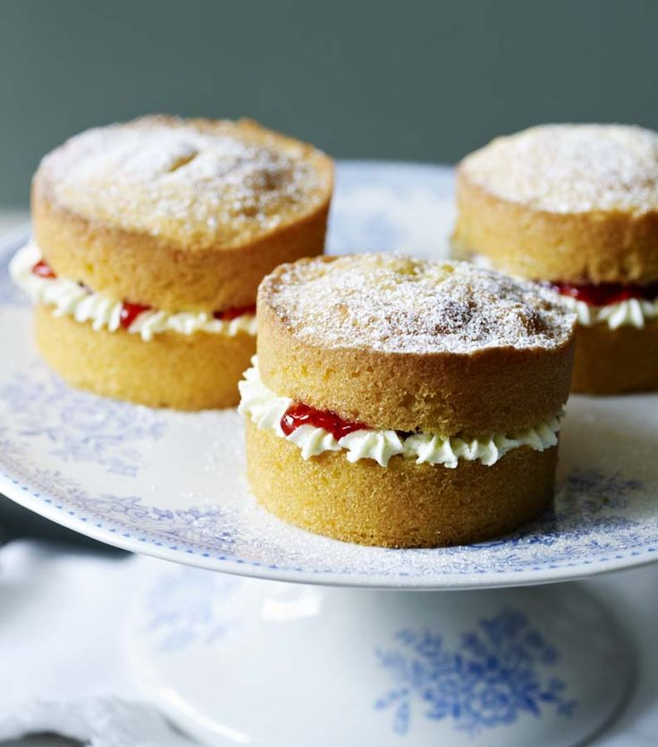 We've zapped the classic Mary Berry Victoria sponge with a shrink ray to make these adorable little cakes.