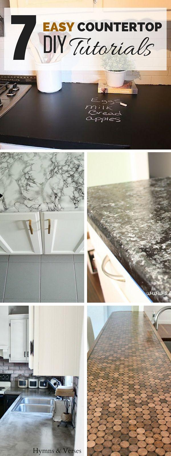 Best 25 diy countertops ideas on pinterest kitchen countertop diy paint laminate countertops - Diy redo kitchen countertops ...