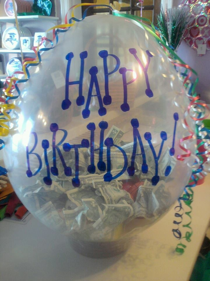 $$Money$$ Gift In A Balloon Made at Celebrations Party Store in Abilene, KS.