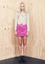 CARNIVAL SUEDE SKIRT (P/O)