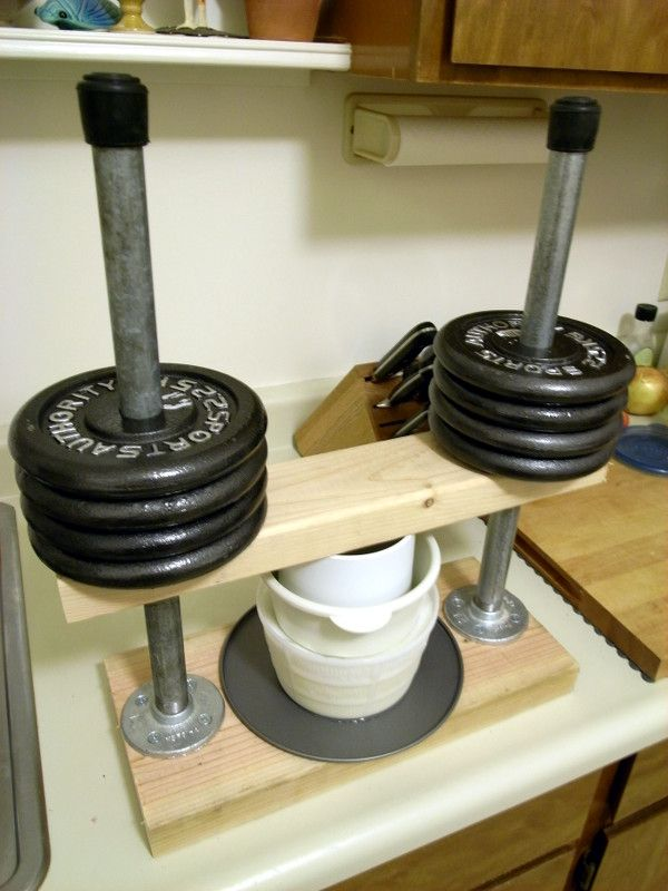 Our homemade cheese press