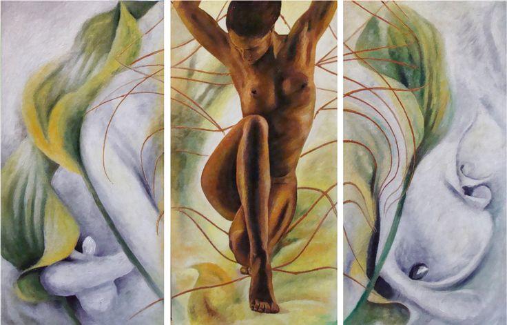 KALY_triptych+art+obraz+3x33x68+pro+interiér,+signováno,+certifikát+na+přání+zařídím+zarámování