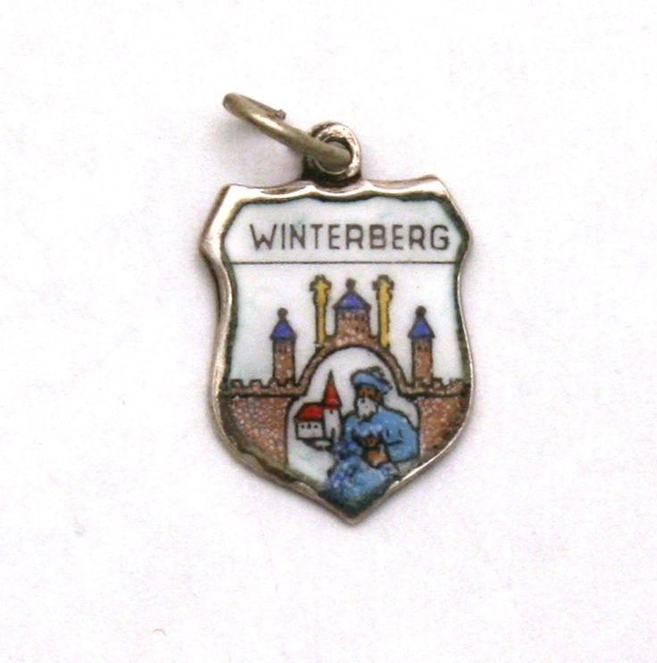 Winterberg Germany Coat of Arms Enamel Travel Shield 800 Silver Bracelet Charm by SterlingRevival on Etsy