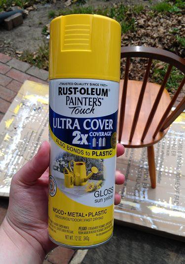 Yellow spray paint