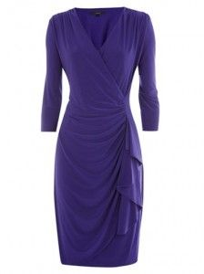 A wrap dress with a difference - a little extra to add a dressier look. i love the style and the color!