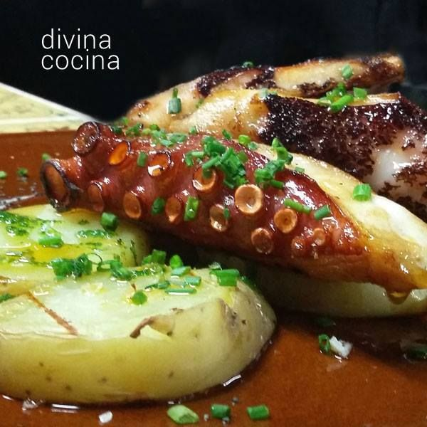 Pulpo a la brasa for Divina cocina canapes