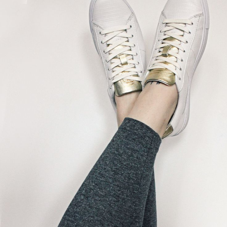 ELECT Coleman sneakers styled for the ladies in Reptile Embossed Leather and Gold Metallic Leather. // ELECT Footwear - Our Shoes // #electfootwear #custom #sneakers #sneaker #style #fashion