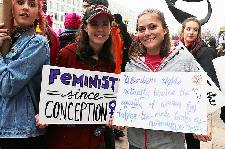 "Amid signs proclaiming ""Keep Your Rosaries Off My Ovaries,"" ""#IstandWithPlannedParenthood"", and a host of other homemade posters ranging from the snarky to the explicit at the Women's March on Washington, pro-life women staked a spot in support of women's dignity – and against abortion."