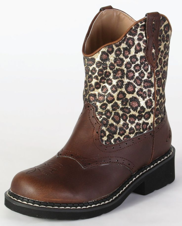 Roper® Girls' Western Leopard Boots :: Pull-ons :: Kids' :: Cowboy Boots :: Fort Western Online