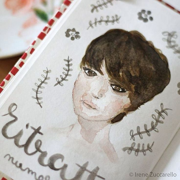 ©Irene Zuccarello | Sketch veloce ad acquarello...  #sketch #drawing #portraits #quicksketch #sketchbook #paint #watercolor #watercolorblog #color #art #handmade #brown #face #faces #30minutesketch #12monthsofpaint #disegno #acquarello #italy #italia #ritratto #fattoamano #colore #viso