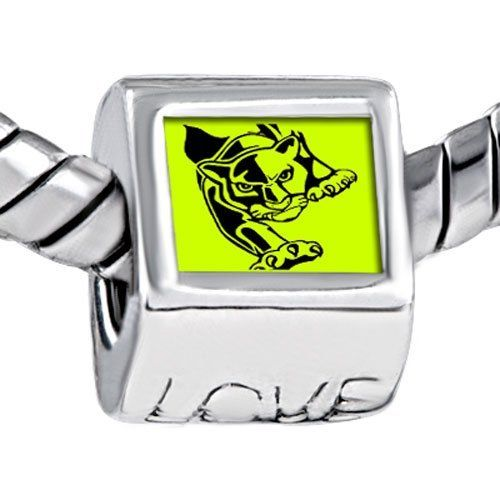 Pugster Law Green Background Black Tiger Photo Engraved Love European Beads Fits Pandora Charm Bracelet Pugster. $12.49. Color: Law green, black. Weight (gram): 4.20. Metal: Metal. Size (mm): 7.60*9.10*10.10