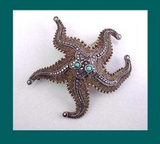 Fahrner starfish broochSea Life, Theodore Fahrner, Fahrner Pin, Fahrner Starfish,  Sea Stars, Starfish Brooches, Life Style, Life Jewelry, Starfish Pin