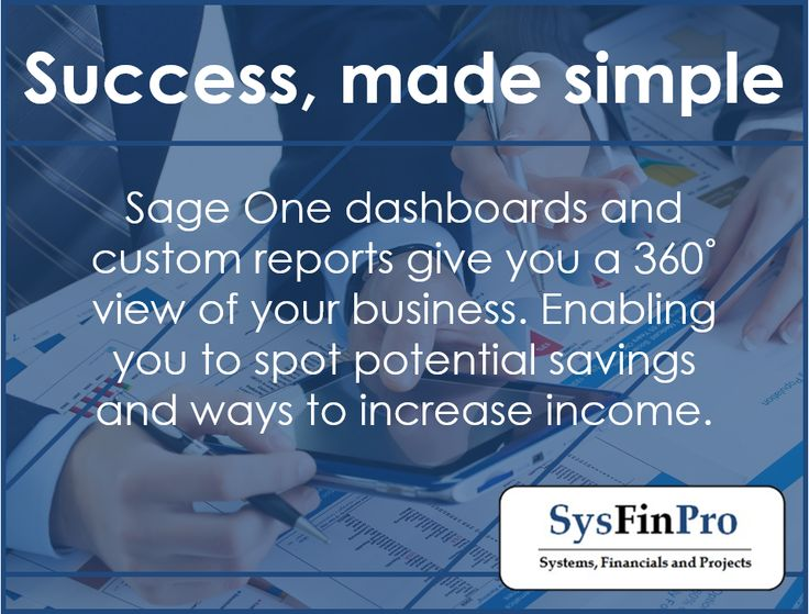 #Sage One has everything a small business needs to handle their cash flow effectively and spot potential savings. Contact #SysFinPro for more information at info@sysfinpro.co.za