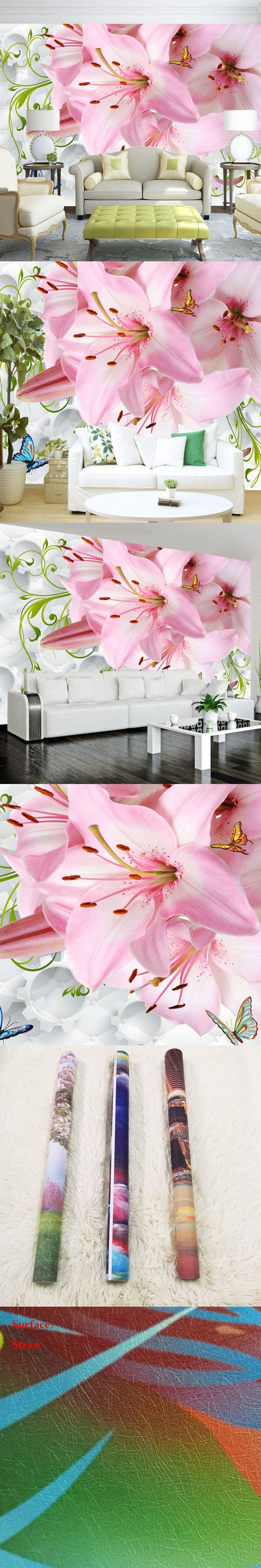 Customized 3D Large Wall Mural Beautiful Flowers Wallpaper Modern Home Decor Cozy Wall Paper Living Room Sofa Wall Background $20.65