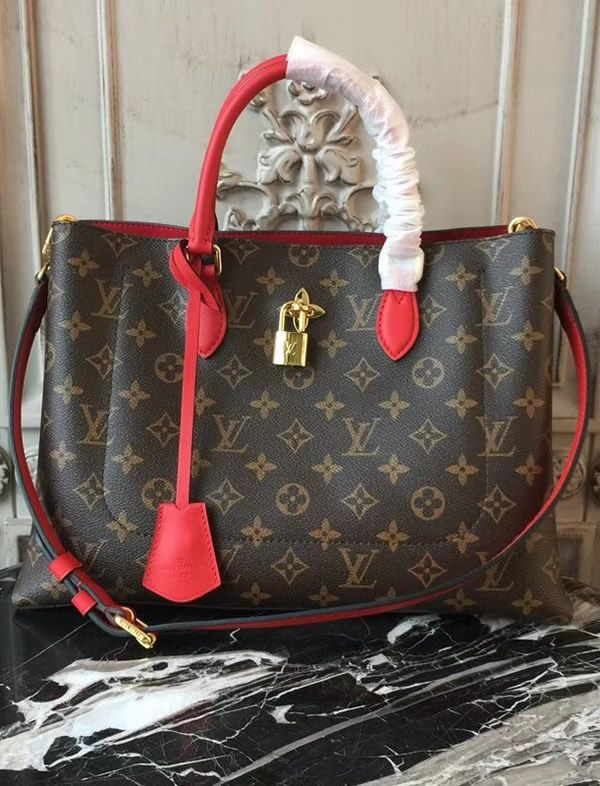 a5a792962ae3 Louis Vuitton Monogram Canvas Flower Tote Coquelicot M43553 is a member of  the Spring Summer collection of 2018.  FlowerTote  MonogramCanvas  M43553   LVBags