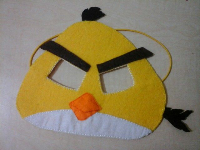 Keçe sarı angrybirth maske