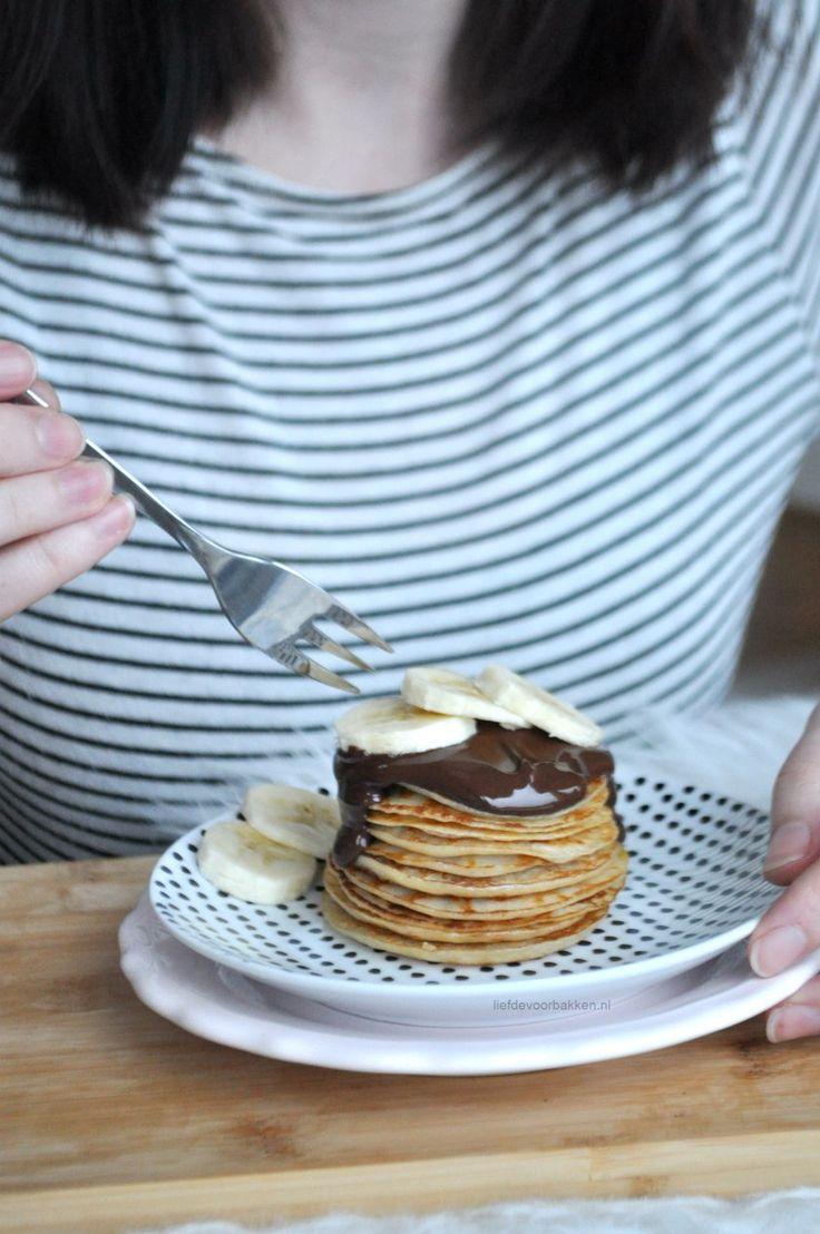 Gezonde Griekse yoghurt pannenkoekjes | healthy Greek yoghurt pancakes | liefdevoorbakken.nl