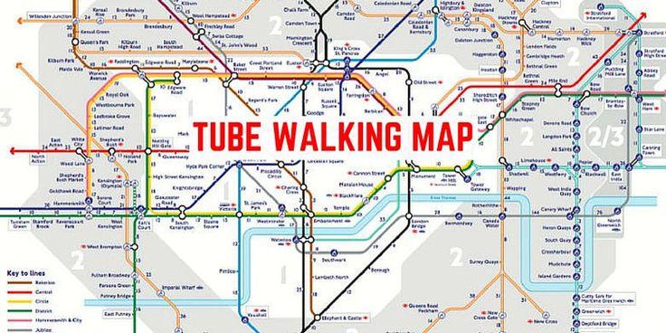 Metropolitana di Londra, la mappa che svela la distanza a piedi tra le stazioni