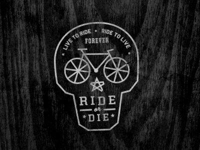 Dribbble Ride Or Die By Curtis Jinkins Line Ride Bike Logo