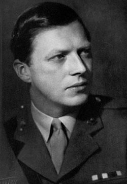 Lieutenant (later Major, later Member of Parliament) Airey Neave, DSO, OBE, MC, the first officer to make a successful escape from Colditz PoW facility when he reached Switzerland in 1942. Neave was subsequently recruited to the military intelligence service, where he served for the remainder of the war.