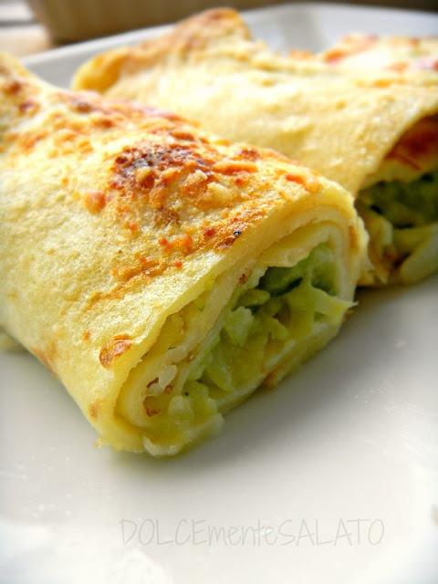 DOLCEmente SALATO: Crepes con zucchine, patate e provola