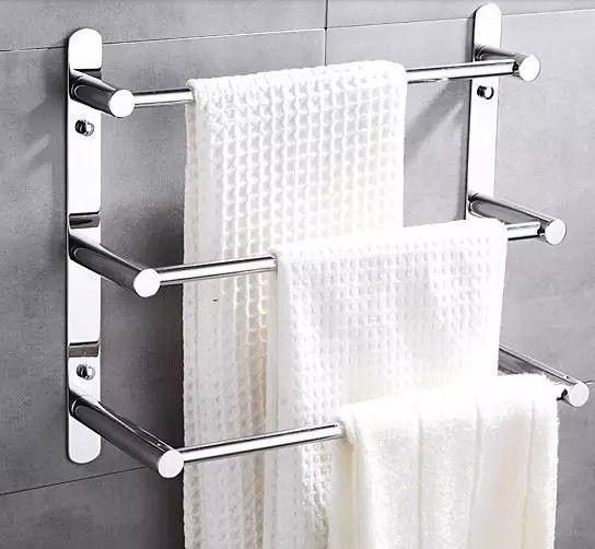 60 см длины нержавеющая сталь 304 автолестница вешалка для полотенец многофункциональные полотенце бары для семьи ванной вешалка для полотенец(China (Mainland))