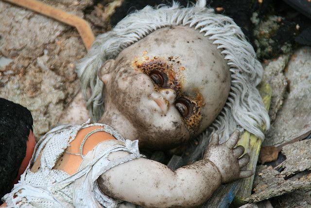 Abandoned tsjernobyl doll