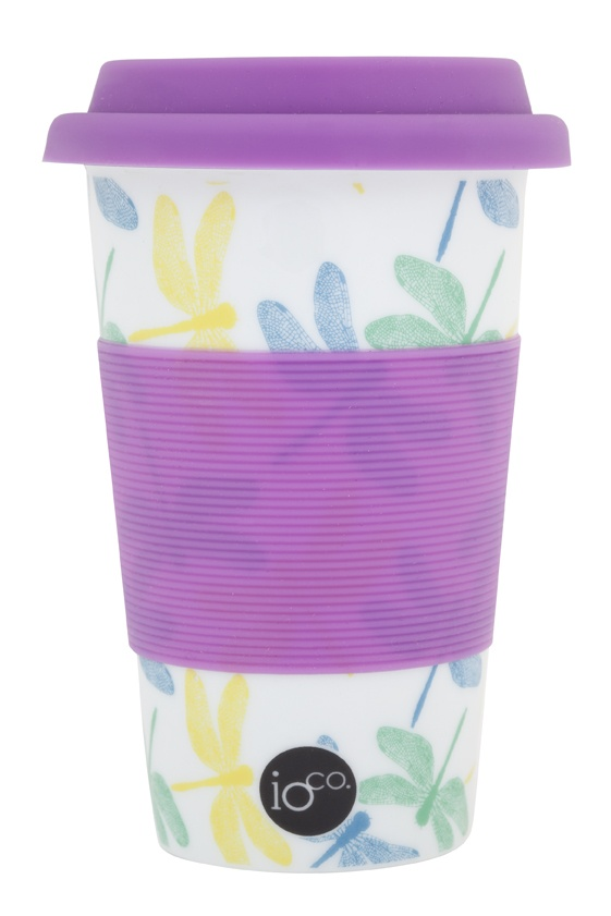 damselfly... light and bright dragon flies... mix and match with lilac silicon sleeve and lid... ioco coffee and tea travellers     shop now www.ioco.com.au