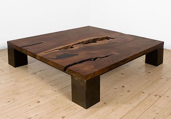 Love wood slab furniture