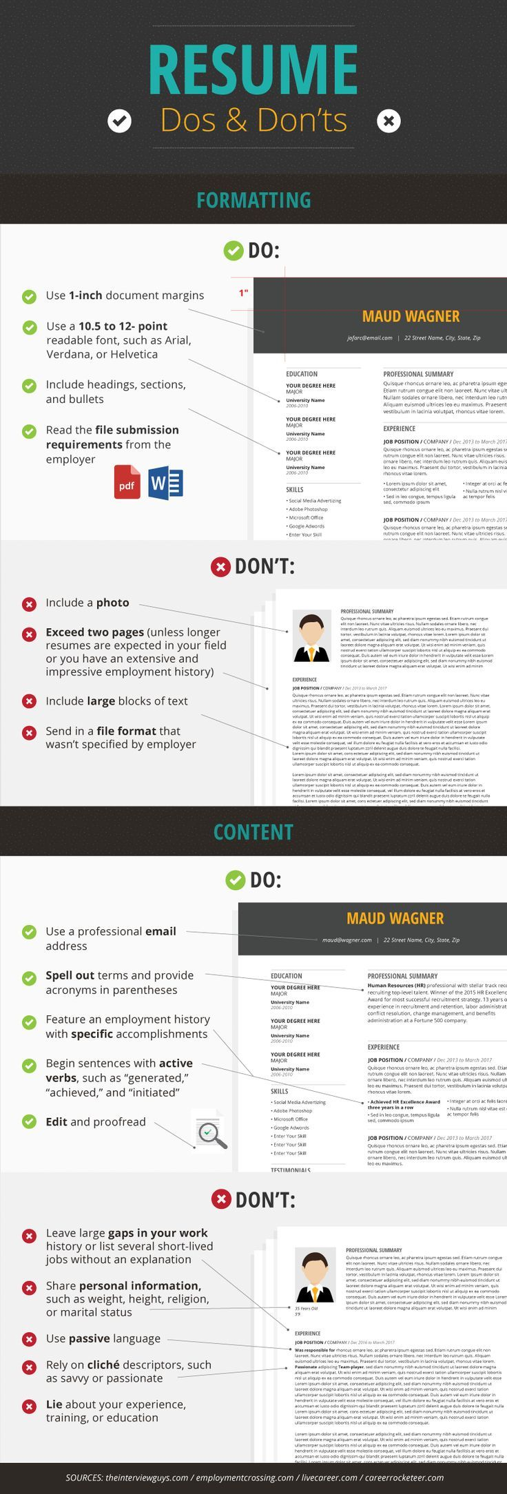 Resume Do's - Resume Dos and Don'ts: How to Get the Interview