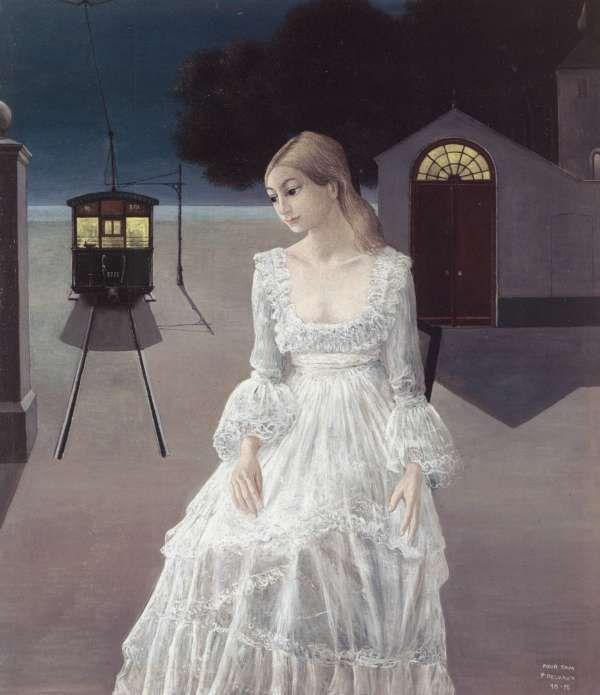 Paul Delvaux's La robe de mariée, 1976.