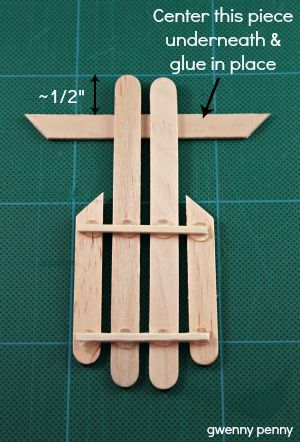 Ornament tutorial Sled and Popsicle