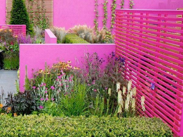 Färgstarka staket och plank