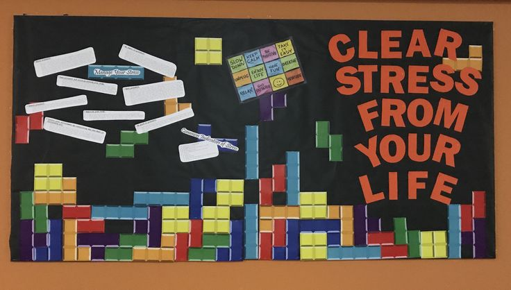 My last bulletin board about managing your stress through the term as midterms during spring term roll around. After this, this year is done since we are given our last bulletin board by our RD