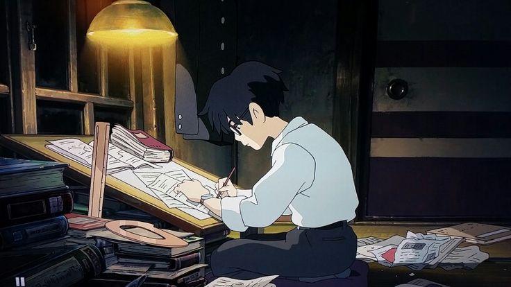 Jiro Horikoshi's bedroom study in The Wind Rises.