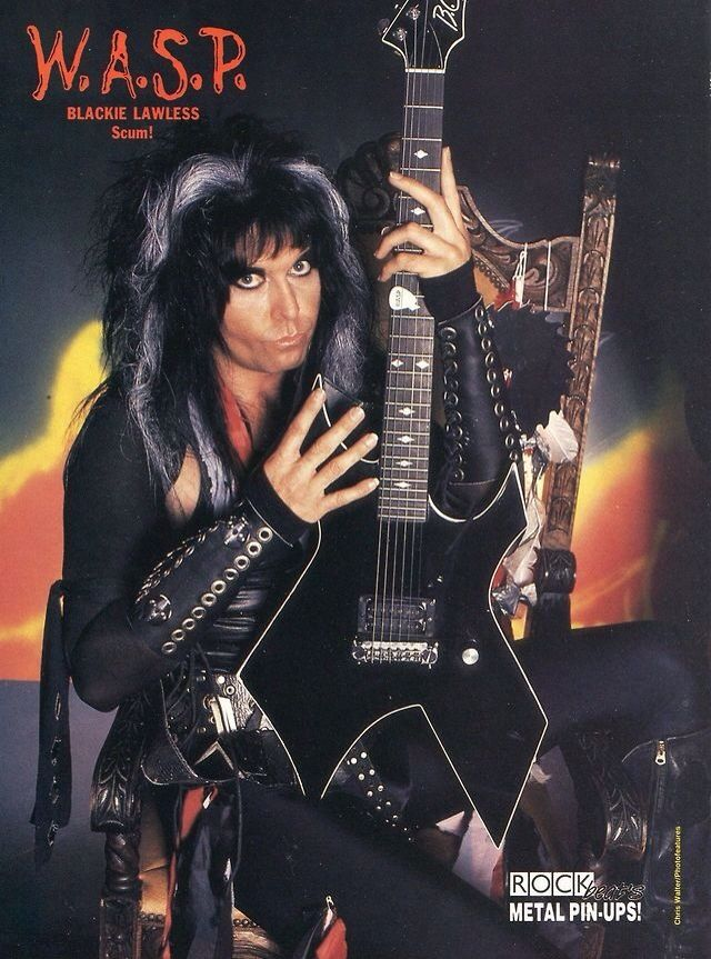Blackie Lawless of W.A.S.P. with amazing eye make-up!