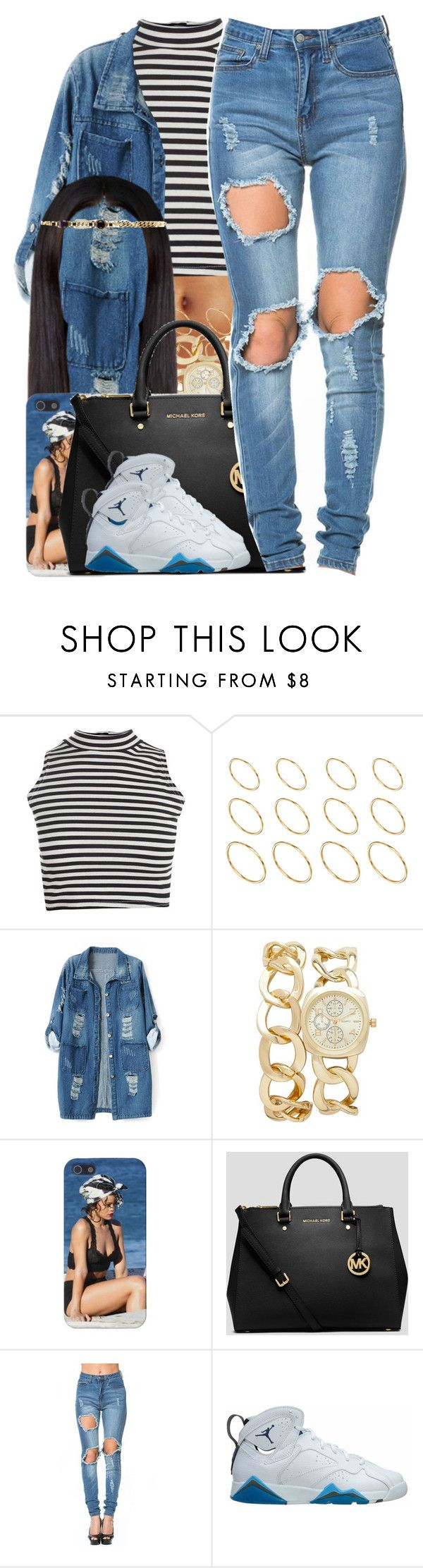 """""""Avery Wilson / Change My Mind"""" by nasiaamiraaa ❤ liked on Polyvore featuring Boohoo, ASOS, Chicnova Fashion, Forever New, MICHAEL Michael Kors, Retrò, Alessandra Rich and NanaOutfits"""