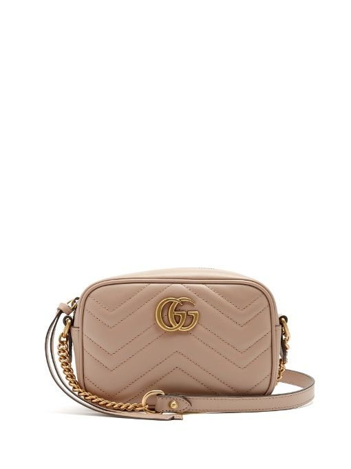 26c8ae3cc4b GUCCI Gg Marmont Mini Quilted-Leather Cross-Body Bag.  gucci  bags  shoulder  bags  lining  suede